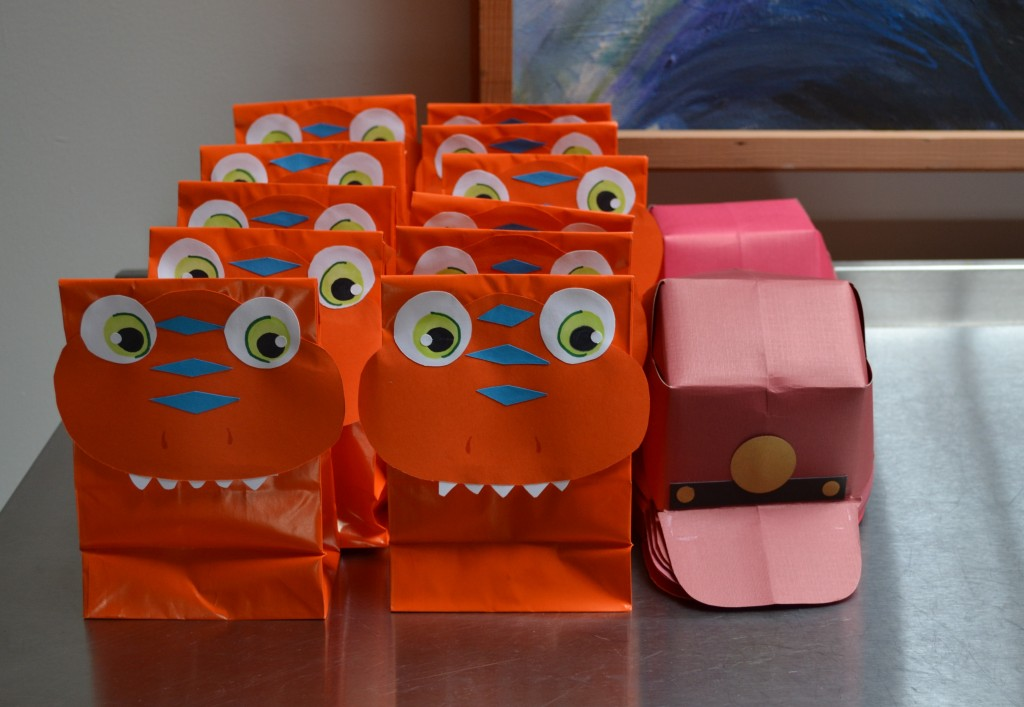 DIY Dinosaur Train Favor Bags.